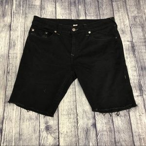 True Religion distressed shorts